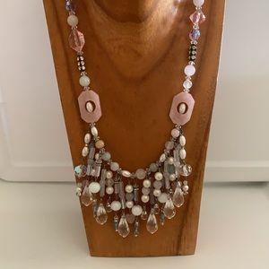 Gorgeous beaded drop bib Necklace so feminine!